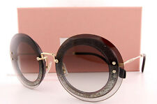Brand New Miu Miu Sunglasses MU 10R 10RS UES0A7 Tansparent Brown For  Women