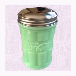 TableCraft Coca-Cola / Coke Jadeite Green Glass Sugar Dispenser / Pourer