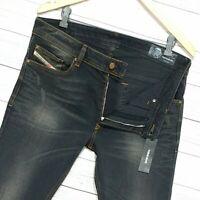 ⭐ Diesel Thavar-XP Slim-skinny fit stretch black denim jeans wash R9L30 W38 L32
