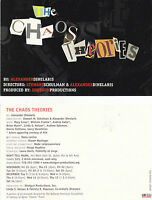 THE CHAOS THEORIES A PLAY BY ALEXANDER DINELARIS ADVERTISING COLOUR POSTCARD