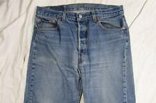 Levi 501 USA Made Button Fly Denim Jeans Hige Tag Size 36x36 Measure 33x32 Vtg