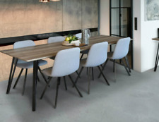 Dining Setting - 7 Piece Dark grey chairs