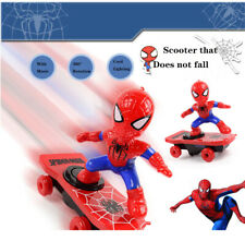 Electric Spiderman Scooter Skateboard Kids Toy With Light Music 360° Tumbler LH