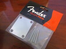 NEW - Genuine Fender Neckplate For Vintage Strat - CHROME, 099-1447-100