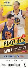 2014 GOLDEN STATE WARRIORS VS LA CLIPPERS PLAYOFFS GAME #3 TICKET STUB CURRY