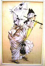 ESOTICO LADY CON OMBRELLO IN 18thC DRESS SCUOLA INGLESE c1890