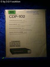 Sony Bedienungsanleitung CDP 102 CD Player (#0520)