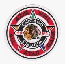 NHL 1991 ALL STAR GAME JERSEY PATCH CHICAGO BLACKHAWKS