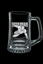 Iron Man Etched Glass Beer Stein Marvel Comics 25oz Brand New