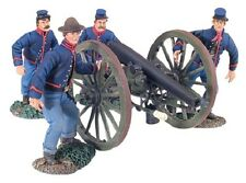 Civil War Toy Soldiers W Britain Union Artillery Set No. 4 Running Up 31148 1/32