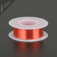 41 AWG Gauge Magnet Wire Red 4900' 155C Solderable Enameled Copper Coil Winding