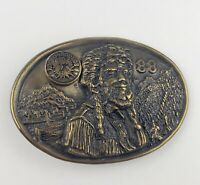Rodeo of Rodeos 1988 Belt Buckle Rare Vintage Cowboy Mountain Man