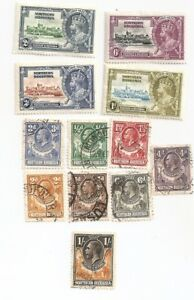 Antique 12 Northern Rhodesia Postage Stamps ~ Issued 1900-14