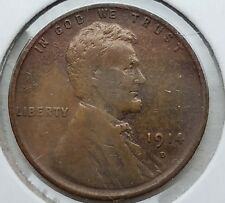 1914-D Lincoln  Wheat cent VF