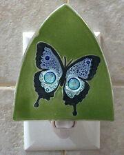 Pampeana artisan made glass night light - BLUE MORPHO BUTTERFLY - #PMP-NL-BBM