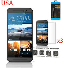 3 X 9H ULTRA CLEAR TEMPER GLASS SCREEN PROTECTOR FOR HTC ONE M9 USA
