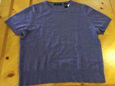 VALERIE STEVENS Sz Large Sweater 100% CASHMERE Purple Short Sleeve Extra Soft