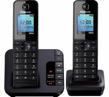 PANASONIC KX-TG8182EB Cordless Phone with Answering Machine Twin Handsets Currys