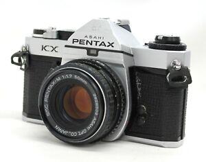 [ EXC Pentax KX SLR Caméra Avec / Smc PENTAX-M 50mm F/1.7 Bonus Lentille De