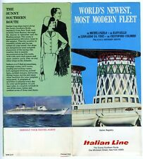 1967 Italian Line MICHELANGELO & RAFFAELLO Brochure Gala Resort Cruise ship