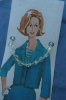 """Mothers Day Vintage Gift Jewellery Crystal Sparkle Beads 50's 60's 18"""" Necklace"""