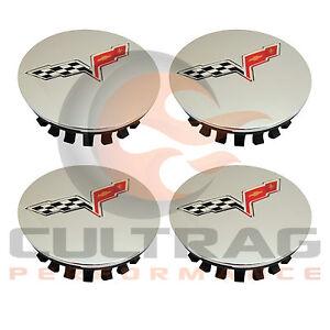 2008-2013 Chevrolet C6 Corvette Genuine GM Chrome Center Caps Set of 4 9597834