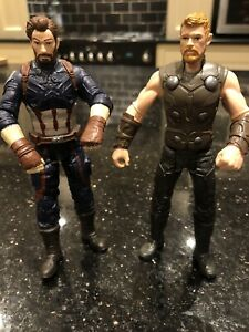 "Marvel Avengers Thor And Captain America Figure 2017 6"" Hasbro"