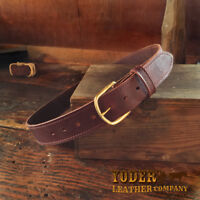 Amish Handmade Wax Sealed Work Belt by Yoder Leather