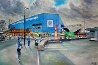 Hillsborough Stadium GTM Fine Art A4 Print - Sheffield Wednesday Football Club