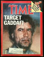 TIME MAGAZINE - April 21 1986 - TARGET GADDAFI / Ronald Reagan / Saudi Arabia