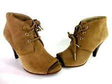 MICHAEL MICHAEL KORS WOMEN'S ST. MARKS FASHION BOOTIES TAN SUEDE US SIZE 7.5 MED