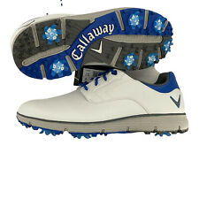 CALLAWAY LAJOLLA LTD Men's Spiked Golf Shoes White And Blue Size 9 NWOB CG205WB
