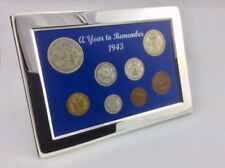 75th Birthday Gift - 1943 Silver Framed Coin Year Boxed Gift Set - Free Postage