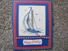 Masculine Sail Boat Birthday/Anniversary/retirement Card Kit 4 w/Some Stampin Up