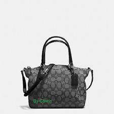 New Coach F27580 Mini Kelsey Satchel In Outline Signature Crossbody Bag Black