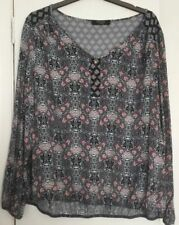 Blue & Red Paisley Floral Top size 18 BNWOT