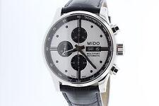 Men's Mido Multifort Automatic Chronograph M0056141603101 White & Black Watch
