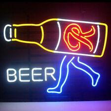 "New Rainier Beer Walker Neon Light Sign 24""x20"" Real Glass Bar Decor Man Cave"