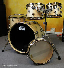 """DW Collectors Drumset USA Satin Natural Nickel Hardware 20"""" 10"""" 12 """" 14"""" + Snare"""