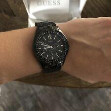 guess watch Black ceramic diamond bezel 13007L1