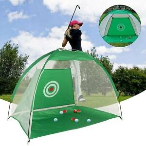 2M Foldable Golf Driving Cage Practice Hitting Golf Net Indoor Outdoor