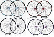 """26"""" MTB WHEELSETS  8/9/10 SPEED,  DOUBLE WALL DISC RIMS, COLOUR OPTIONS"""