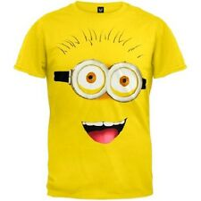 Despicable Me 2 Front Big Face T-Shirt Yellow kids sz L large