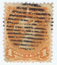 Canada #23(1) 1869 1 cent yellow orange Queen Victoria Used CV$250.00