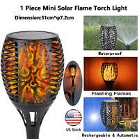 12 LED Waterproof Outdoor Solar Flame Light Torch Dancing Flickering Lamp Garden