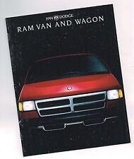 1994 Dodge VAN / WAGON Brochure w/Color Chart: RAM,B150,B250,B350,LE,MAXIWAGON,