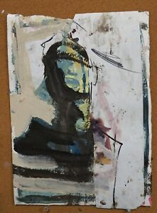 Abstract Figure Painting, Colorful Original Artwork