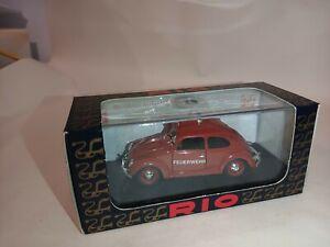 1/43 Rio SL005 ITALY MASSIVE SALE RIO Volkswagen Beetle FIRE 1955 in box