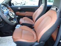Kit Rinnova Colore Marrone Spallina Pelle Fiat Abarth Ritocco Interni 500