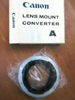 Authentic Canon Lens Mount Converter A In Original Factory Box Made In Japan